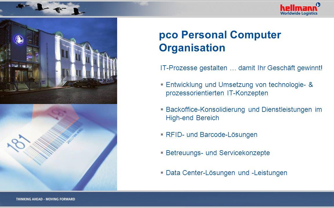 pco Personal Computer Organisation IT-Prozesse gestalten … damit Ihr Geschäft gewinnt! Entwicklung und Umsetzung von technologie- & prozessorientierte