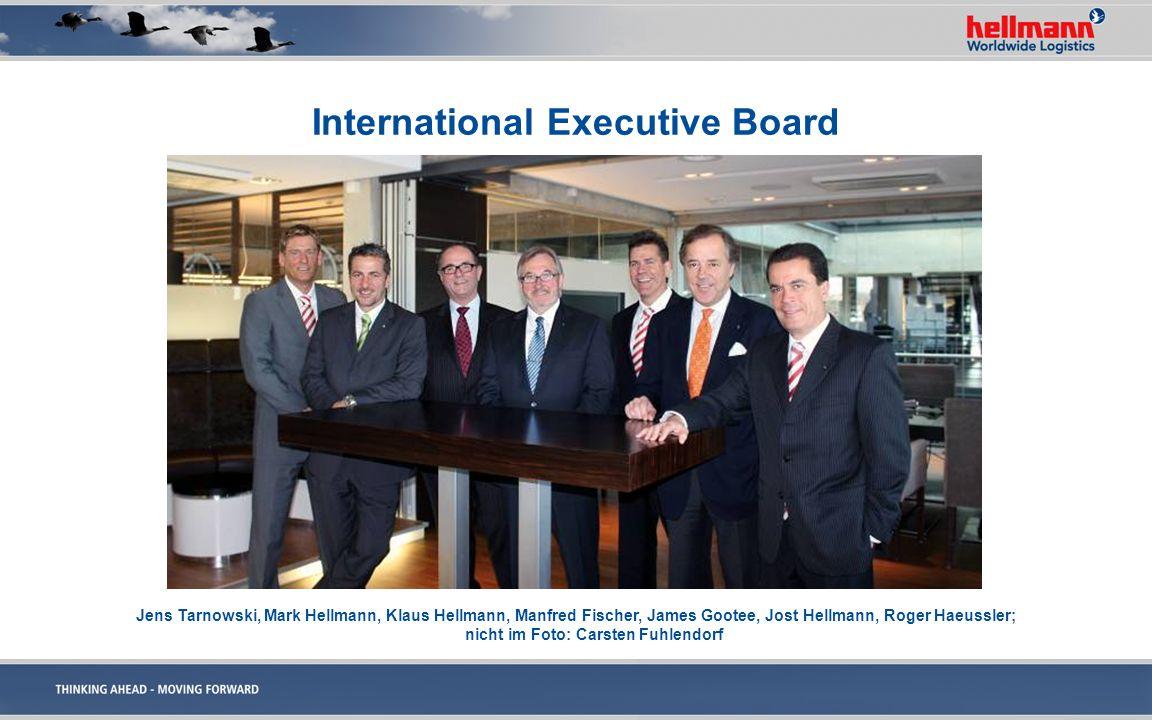 International Executive Board Jens Tarnowski, Mark Hellmann, Klaus Hellmann, Manfred Fischer, James Gootee, Jost Hellmann, Roger Haeussler; nicht im F
