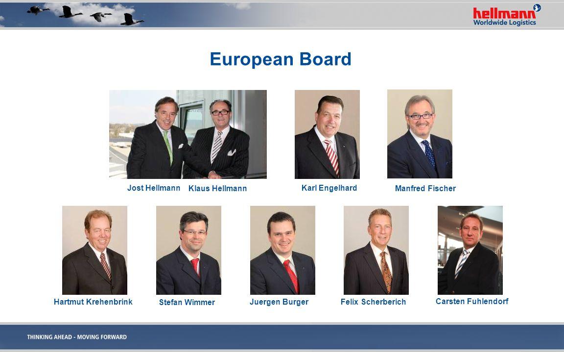 European Board Manfred Fischer Jost Hellmann Klaus Hellmann Karl Engelhard Hartmut Krehenbrink Stefan Wimmer Juergen BurgerFelix Scherberich Carsten F