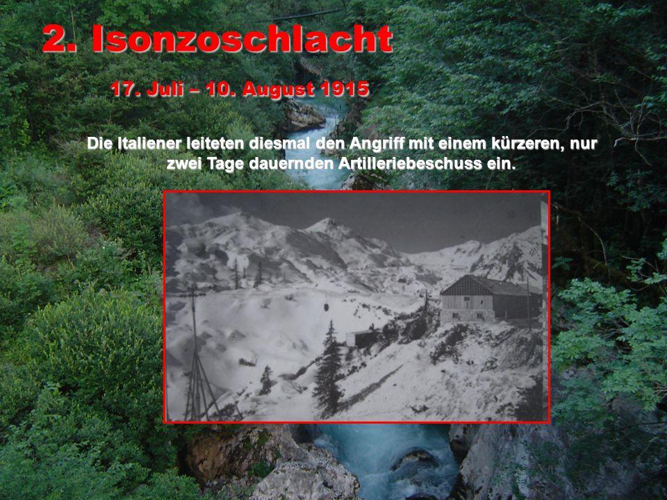3.Isonzoschlacht 18. Oktober – 4.