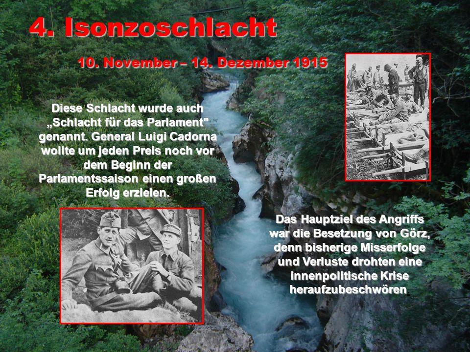 5.Isonzoschlacht 11. – 16.
