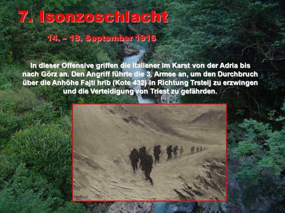 8.Isonzoschlacht 9. – 12.
