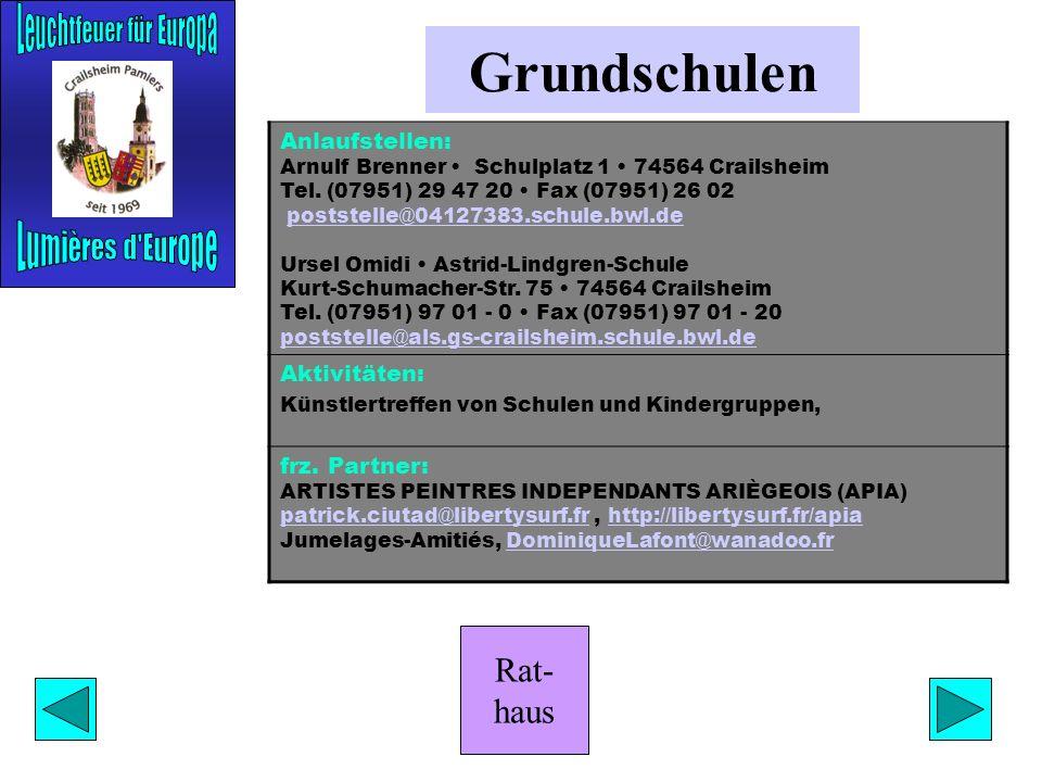 Rat- haus Lise-Meitner-Gymnasium Anlaufstelle: Matthias Schilling Bürgermeister-Demuth-Allee 4 74564 Crailsheim Tel. (07951/295590) schilling@lmg-crai