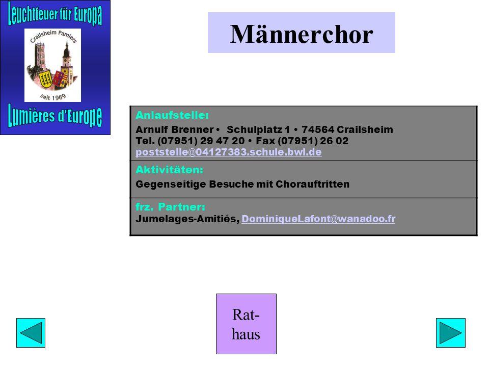 Rat- haus Weiße Rose Anlaufstelle: Ursula Mroßko Im Spitalgarten 3/2 74564 Crailsheim Tel. (07951) 44368 uschi.mrossko@weisse-rose-crailsheim.de Aktiv