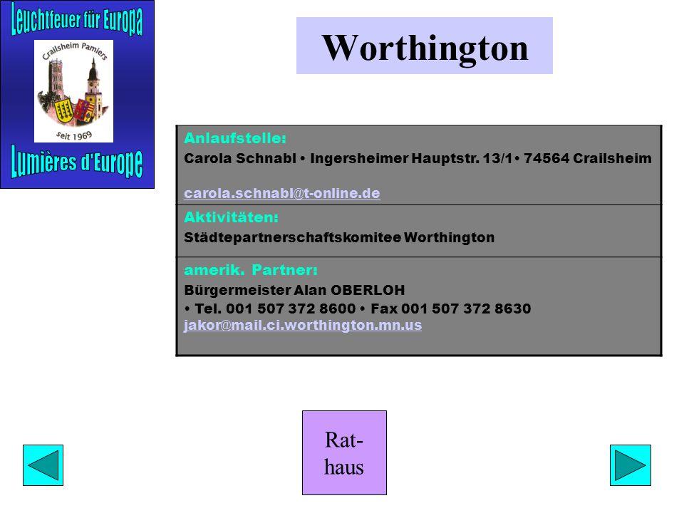 Rat- haus Rathaus Anlaufstelle: Stabsstelle Oberbürgermeister Franz Kasimir Tel. (07951) 403 292 Fax (07951) 403 121 eMail: franz.kasimir@crailsheim.d