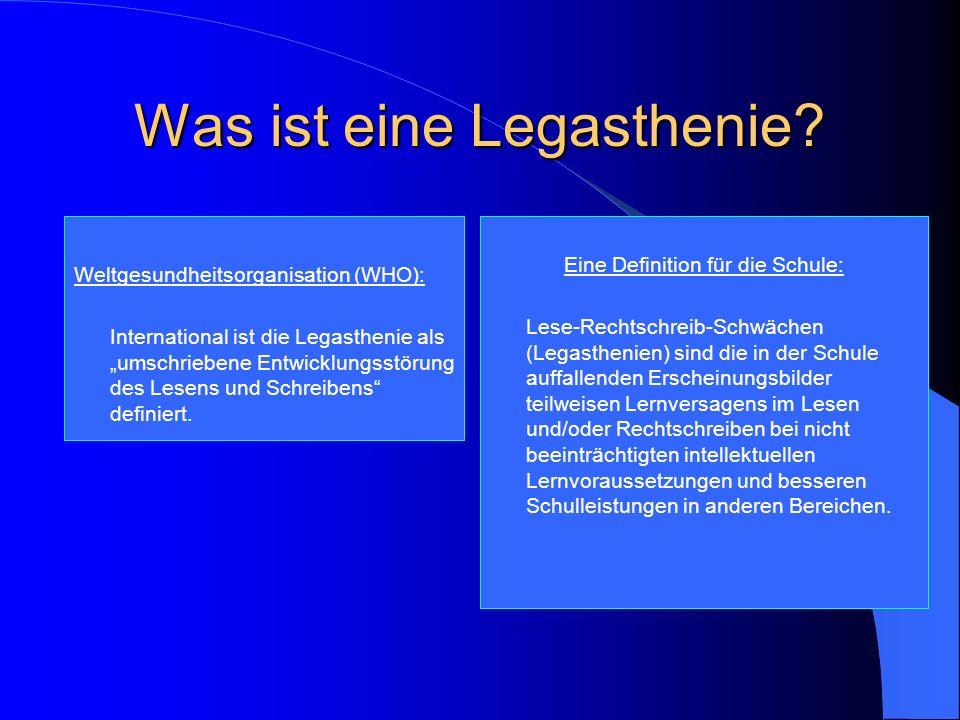 Lese-Rechtschreib-SchwächeLegasthenie three, 2005
