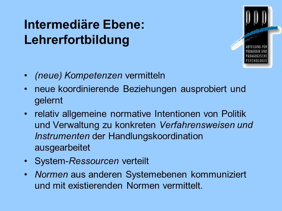Traditionelle Aufgaben von Schulaufsicht Schulverwaltung und Schulaufsicht = Ausdruck der Ausübung der staatlichen Gesamtverantwortung für den Zustand und die Entwicklung des öffentlichen Schulwesens.
