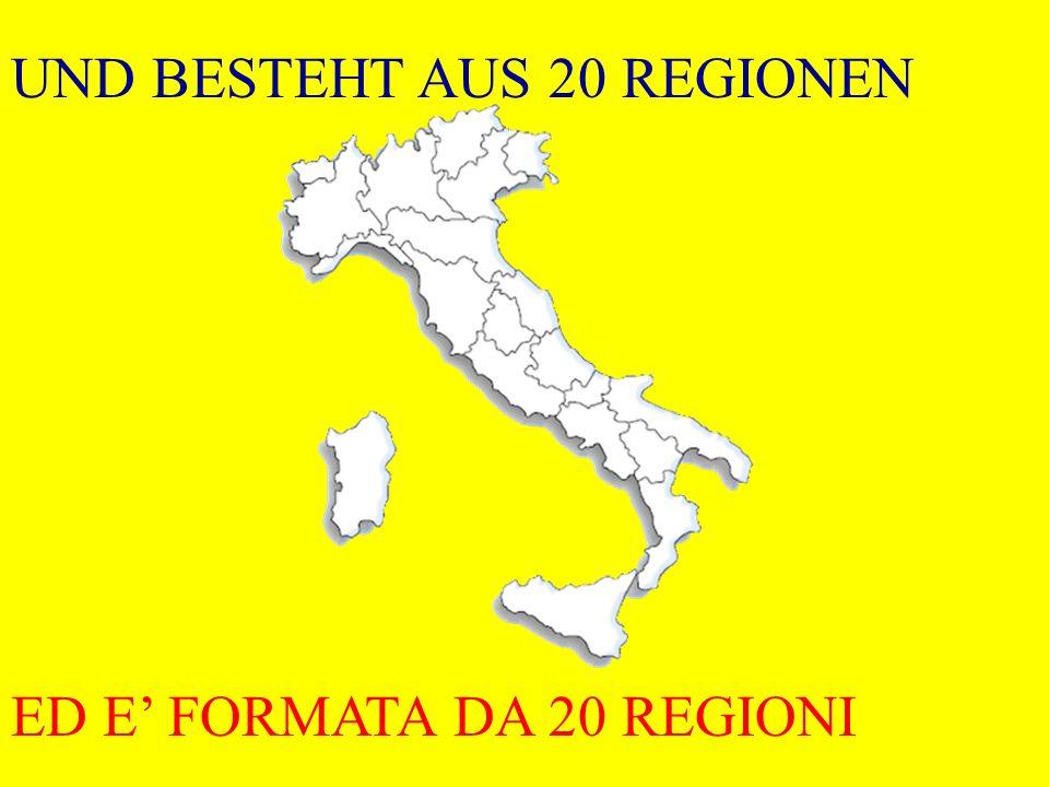ITALIEN HAT DIE FORM EINES STIEFELS LITALIA E A FORMA DI STIVALE