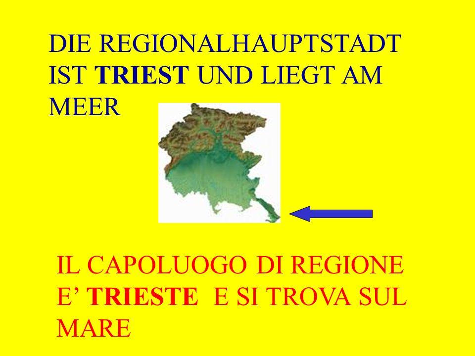 DIE REGIONALHAUPTSTADT IST TRIEST UND LIEGT AM MEER IL CAPOLUOGO DI REGIONE E TRIESTE E SI TROVA SUL MARE