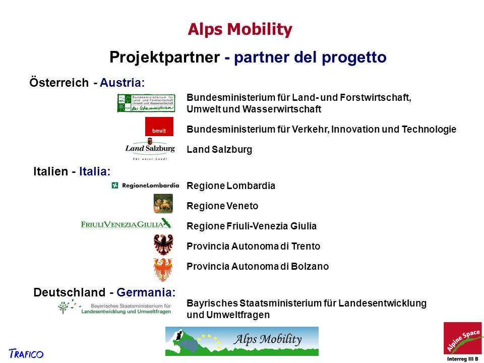 Projektpartner - partner del progetto Österreich - Austria: Italien - Italia: Deutschland - Germania: Bayrisches Staatsministerium für Landesentwicklu