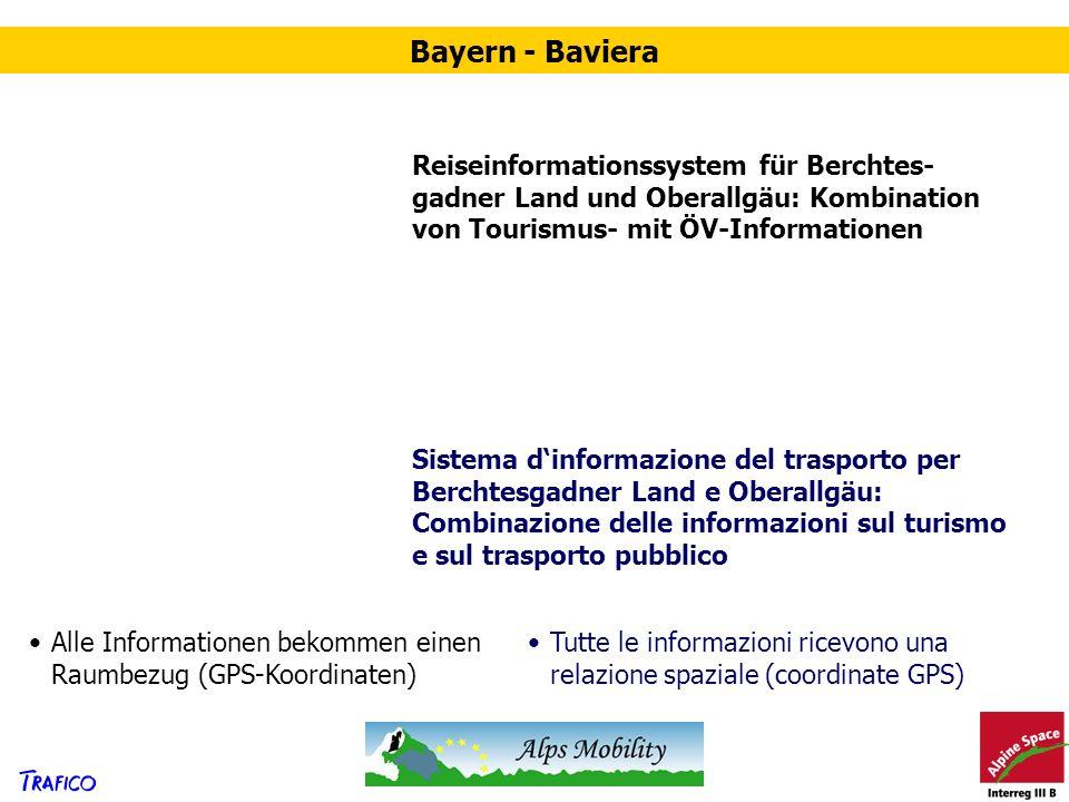 Reiseinformationssystem für Berchtes- gadner Land und Oberallgäu: Kombination von Tourismus- mit ÖV-Informationen Sistema dinformazione del trasporto