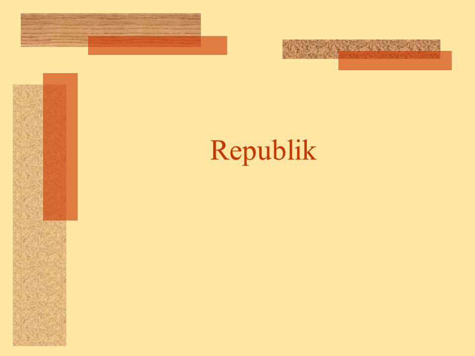 Die Entwicklung der römischen Republik Cursus Honorum Die Laufbahn Prätor Konsul Richter im Staat, zweithöchster Beamter, vor 500 v.