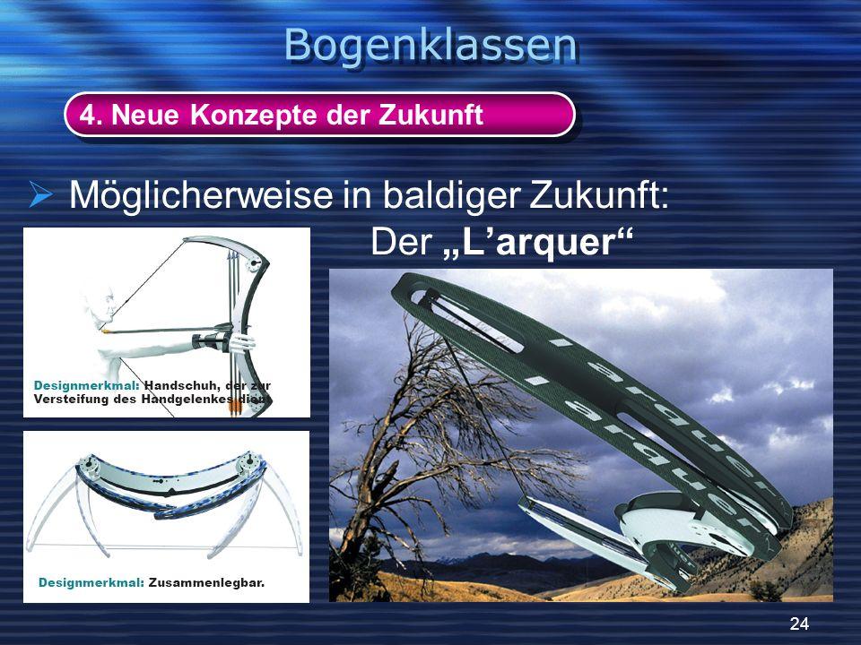 24 4. Neue Konzepte der Zukunft Bogenklassen Möglicherweise in baldiger Zukunft: Der Larquer