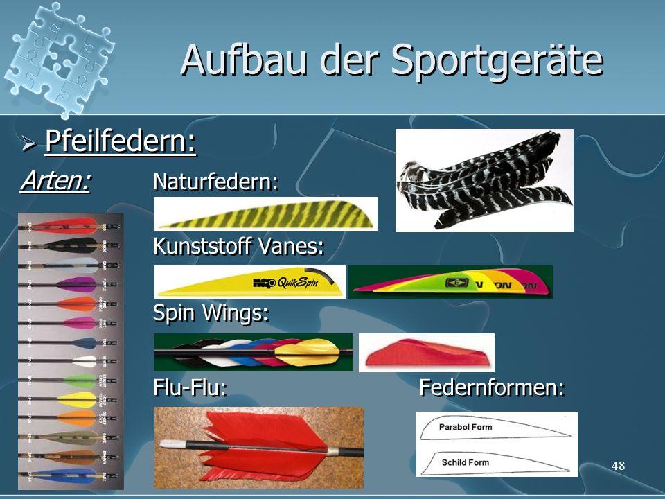48 Pfeilfedern: Arten: Naturfedern: Kunststoff Vanes: Spin Wings: Flu-Flu:Federnformen: Pfeilfedern: Arten: Naturfedern: Kunststoff Vanes: Spin Wings: