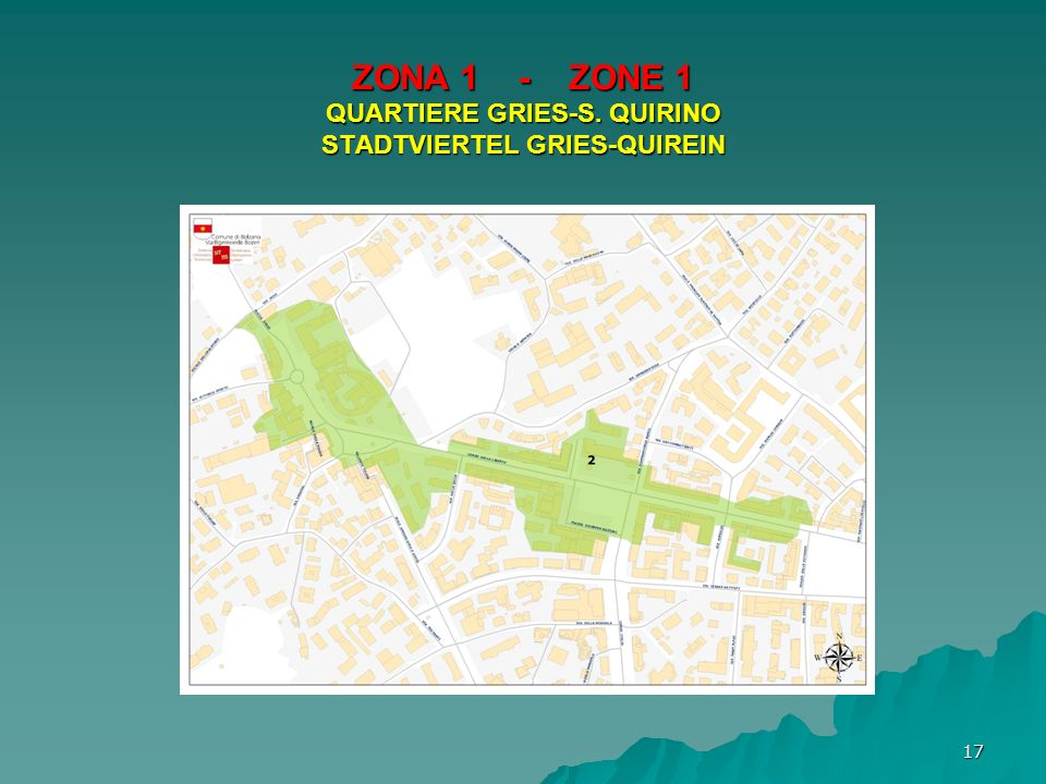 ZONA 1 - ZONE 1 QUARTIERE GRIES-S. QUIRINO STADTVIERTEL GRIES-QUIREIN 17