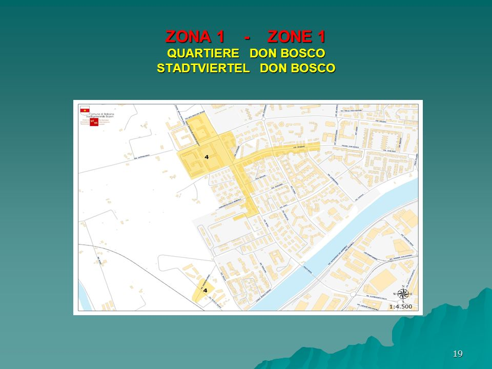 ZONA 1 - ZONE 1 QUARTIERE DON BOSCO STADTVIERTEL DON BOSCO 19