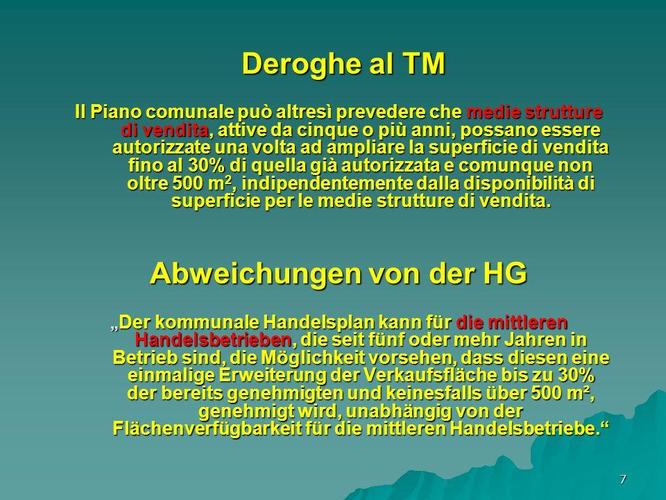 8 La rete commerciale comunale Das Handelsnetz der Gemeinde