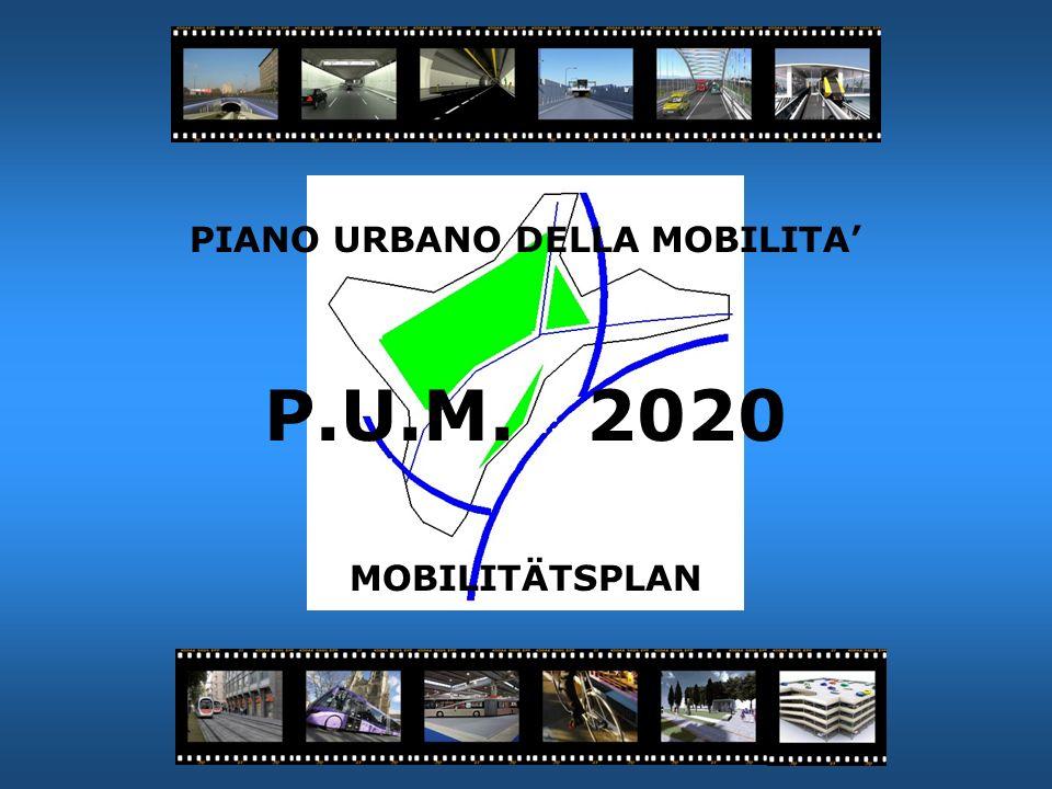 PIANO URBANO DELLA MOBILITA P.U.M. 2020 MOBILITÄTSPLAN