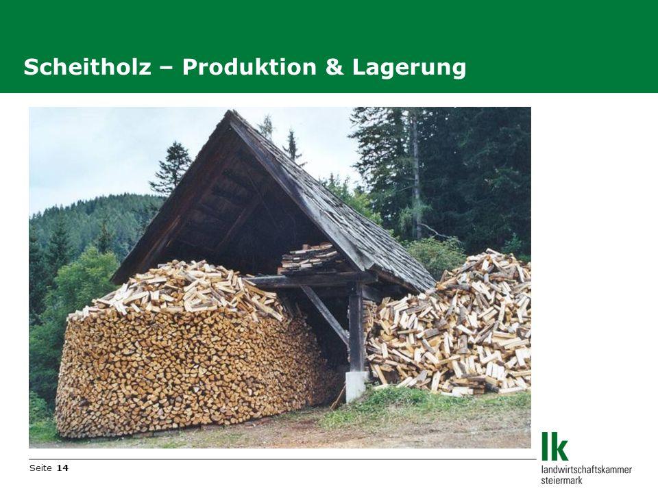 Seite 14 Scheitholz – Produktion & Lagerung