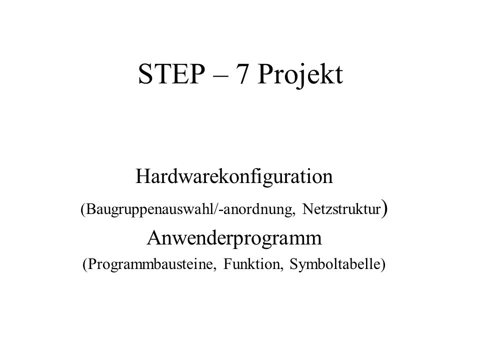 SIMATIC Manager starten 1.Neues Projekt anlegen: Datei Neu oder über Symbol 2.