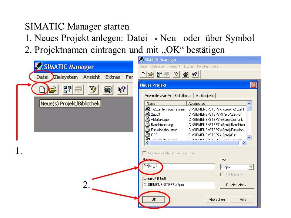 Überprüfung des Programms mit PLCSIM 1.Voraussetzung ist, dass die CPU sich im RUN-Modus befindet.