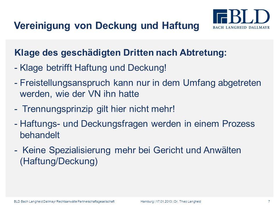 BLD Bach Langheid Dallmayr Rechtsanwälte Partnerschaftsgesellschaft Hamburg | 17.01.2013 | Dr.