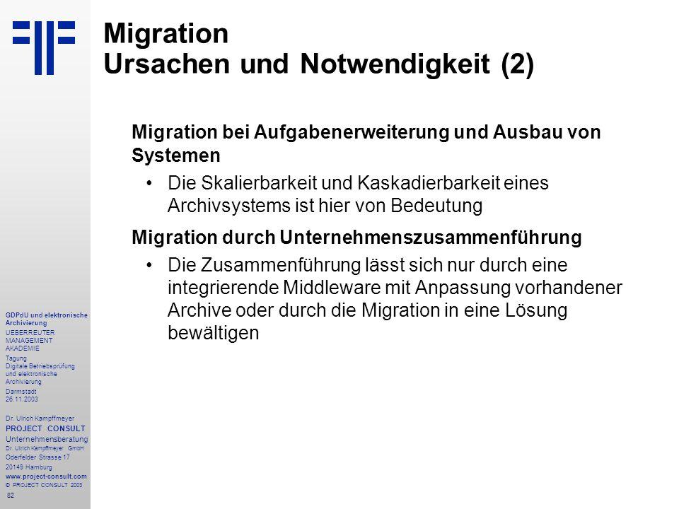 82 GDPdU und elektronische Archivierung UEBERREUTER MANAGEMENT AKADEMIE Tagung Digitale Betriebsprüfung und elektronische Archivierung Darmstadt 26.11