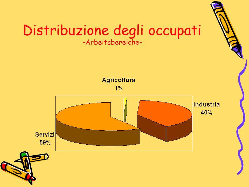 Distribuzione degli occupati -Arbeitsbereiche-