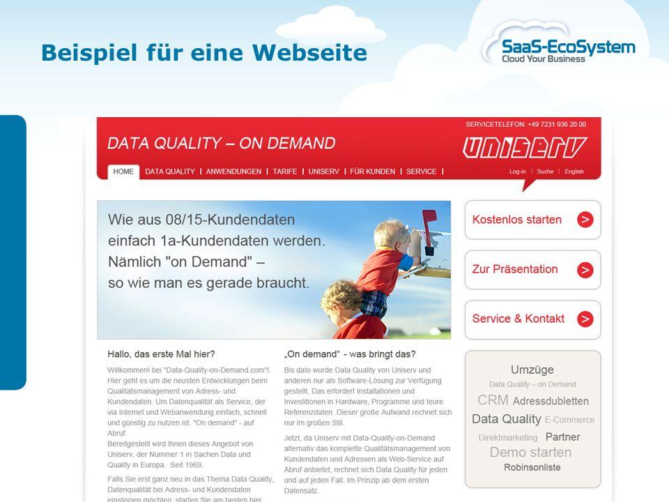 22. November 2010 | Seite 19 Kundengewinnung in der Cloud Beispiel für eine Webseite