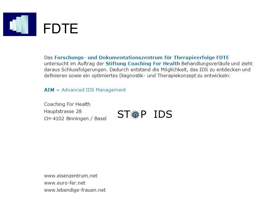 FDTE Das Forschungs- und Dokumentationszentrum für Therapieerfolge FDTE untersucht im Auftrag der Stiftung Coaching For Health Behandlungsverläufe und