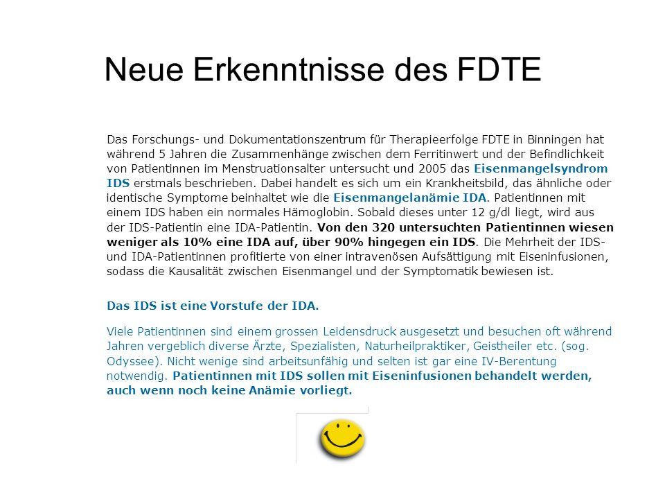 Neue Erkenntnisse des FDTE Das Forschungs- und Dokumentationszentrum für Therapieerfolge FDTE in Binningen hat während 5 Jahren die Zusammenhänge zwis