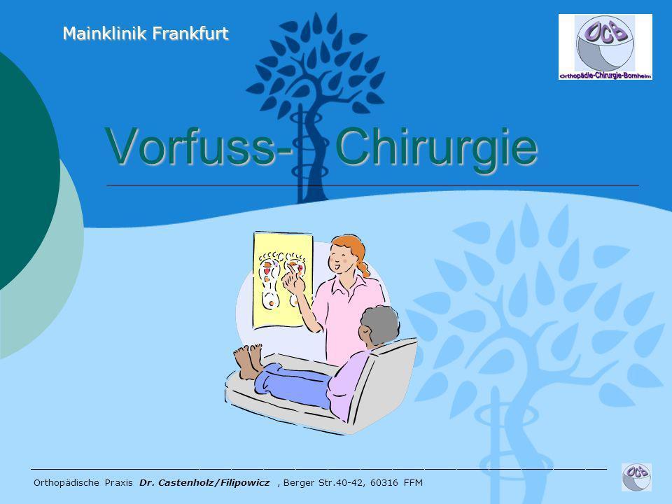 Vorfuss- Chirurgie Vorfuss- Chirurgie ______________________________________________________ Orthopädische Praxis Dr. Castenholz/Filipowicz, Berger St