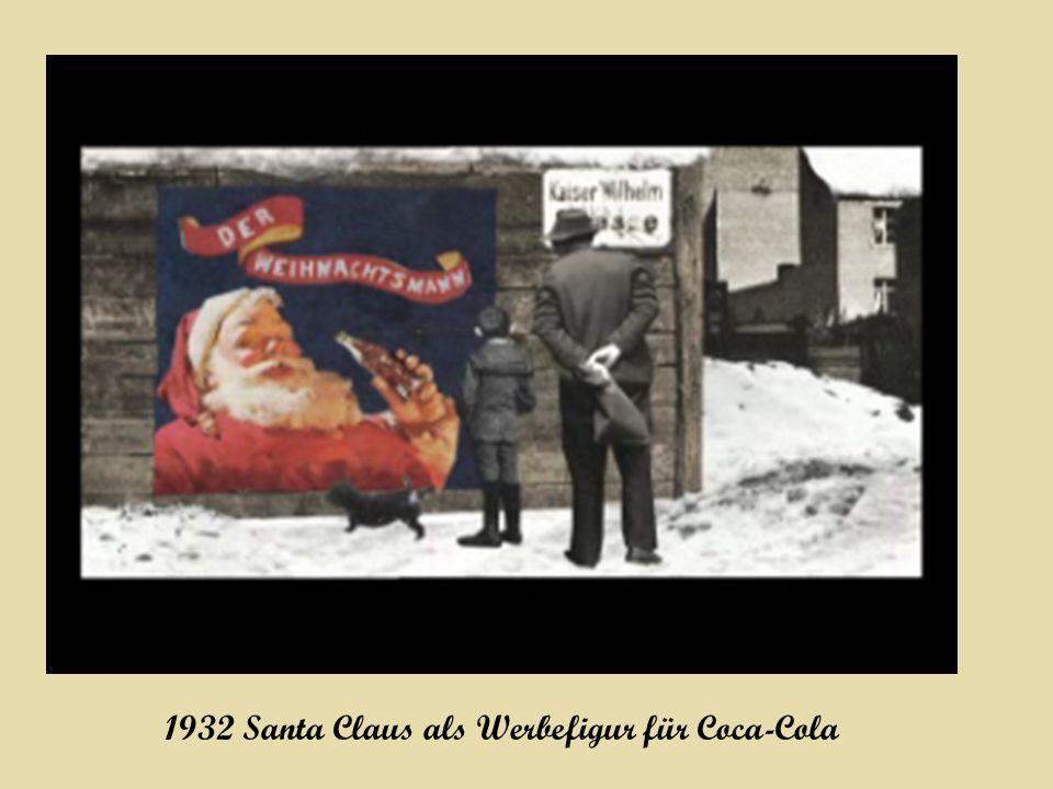 1932 Santa Claus als Werbefigur für Coca-Cola