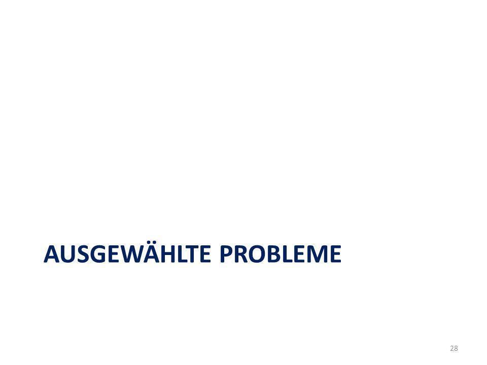 AUSGEWÄHLTE PROBLEME 28