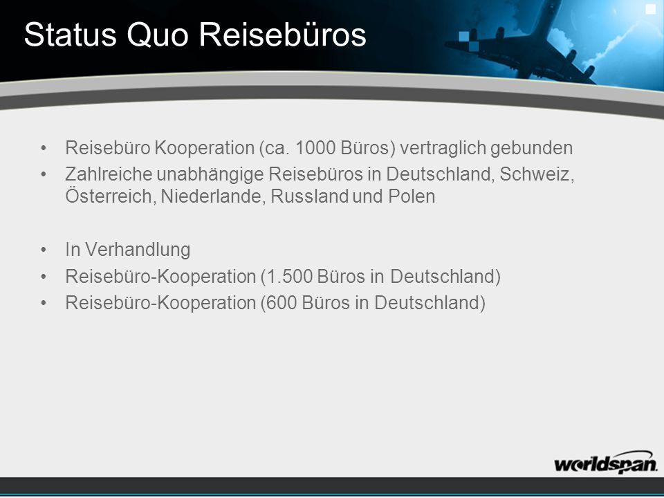 Status Quo Reisebüros Reisebüro Kooperation (ca.