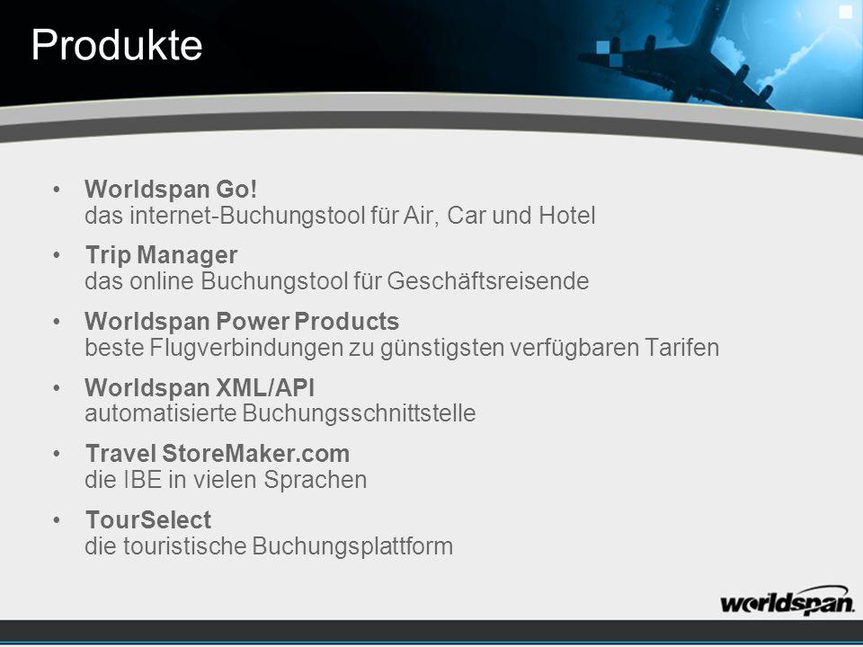 Produkte Worldspan Go.