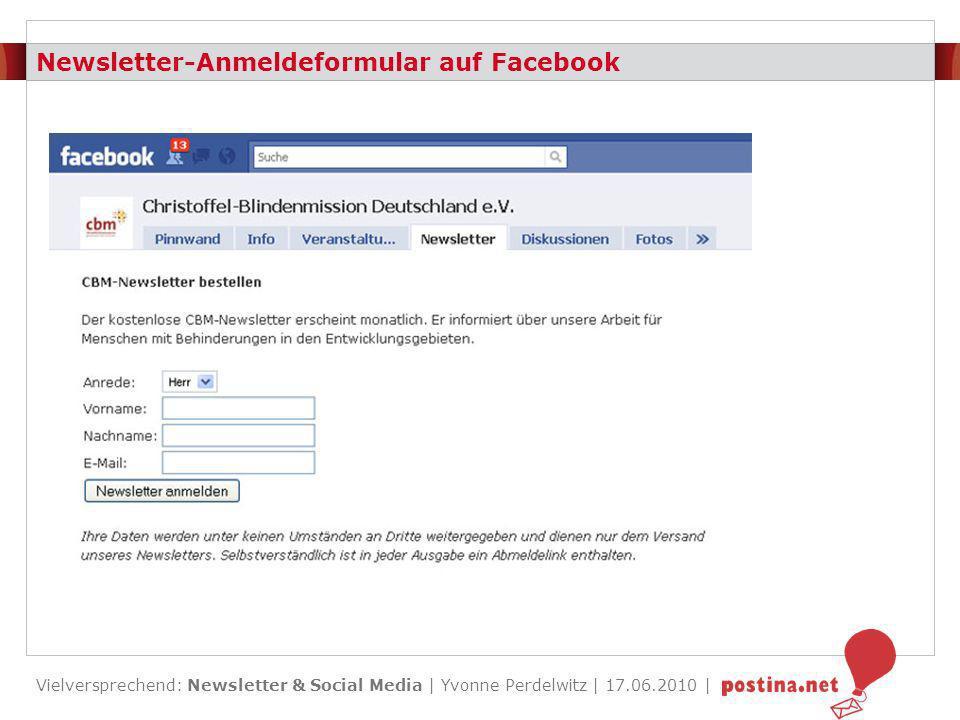 Vielversprechend: Newsletter & Social Media | Yvonne Perdelwitz | 17.06.2010 | Share with your Network Links Definition: Ein SWYN-Link ist eine Weiterleitfunktion in Netzwerke.