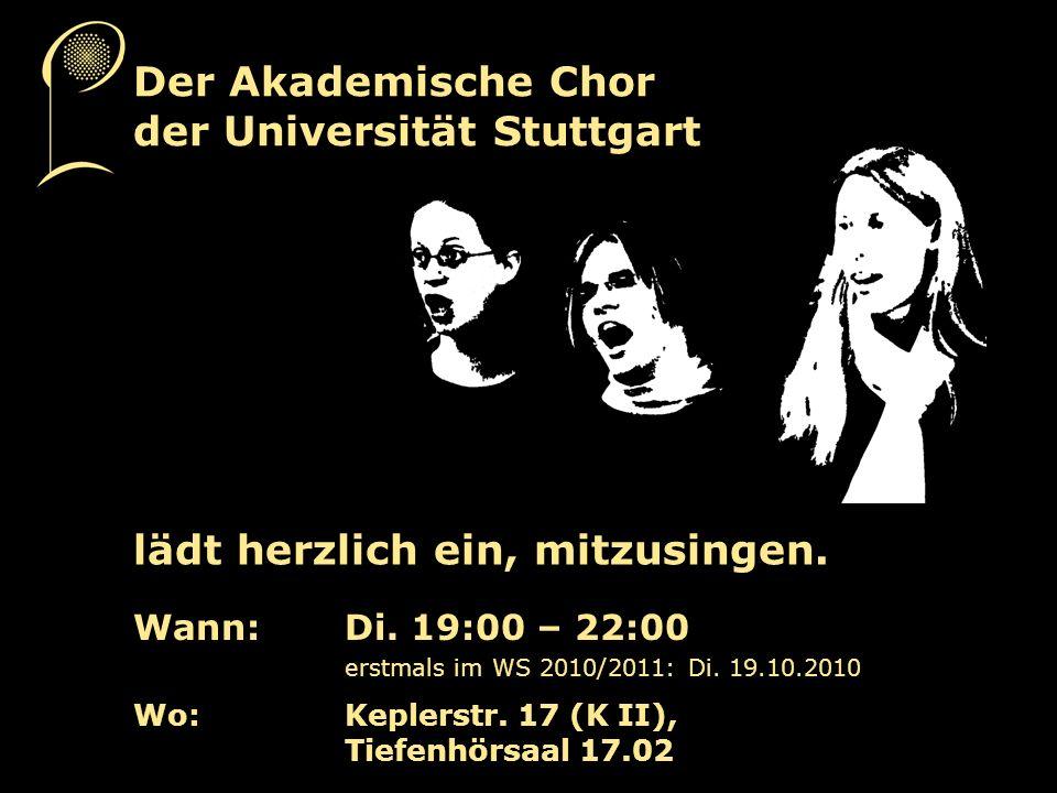 Dies Academicus – Uni Jahresfeier Fr.19.11.2010, 16.00 Uhr, KII, Uni Stuttgart G.