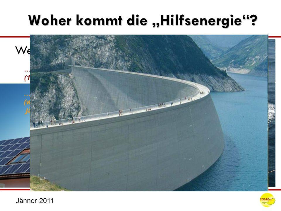 Jänner 2011 … zu 16% die Sonne über erneuerbare Energie – Kraftwerke (wiederkehrende Nutzung von Resoucen, die sich stündlich / täglich / jährlich / o