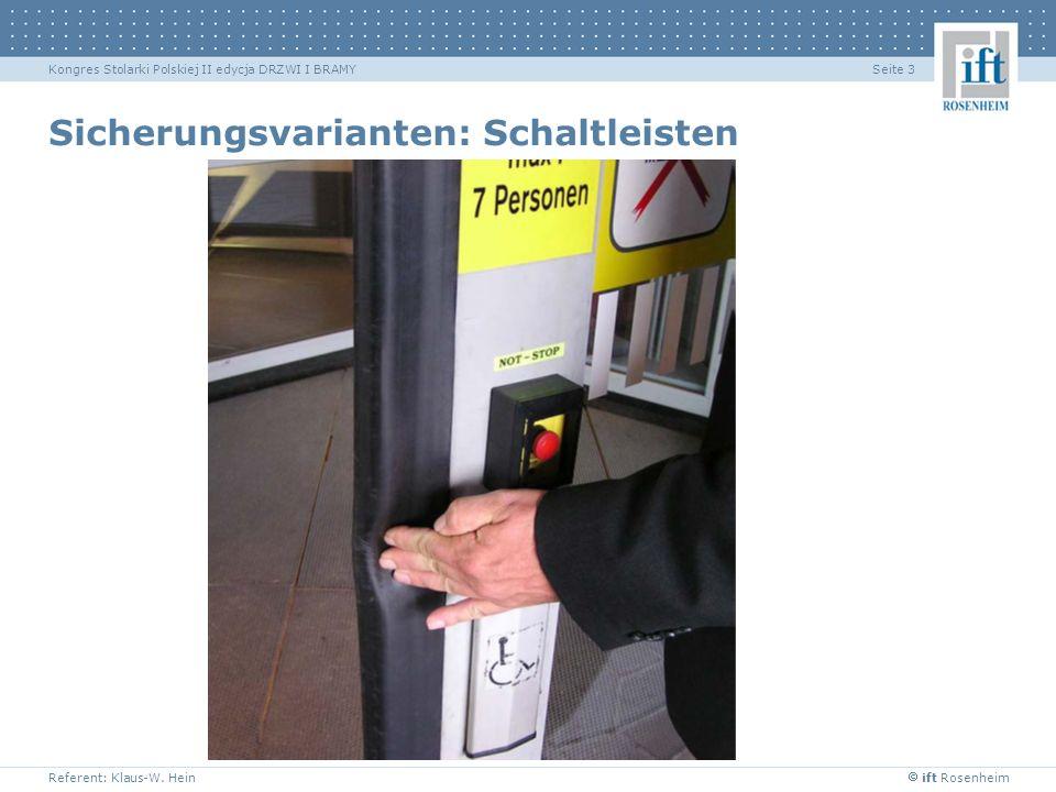 ift Rosenheim Referent: Klaus-W.