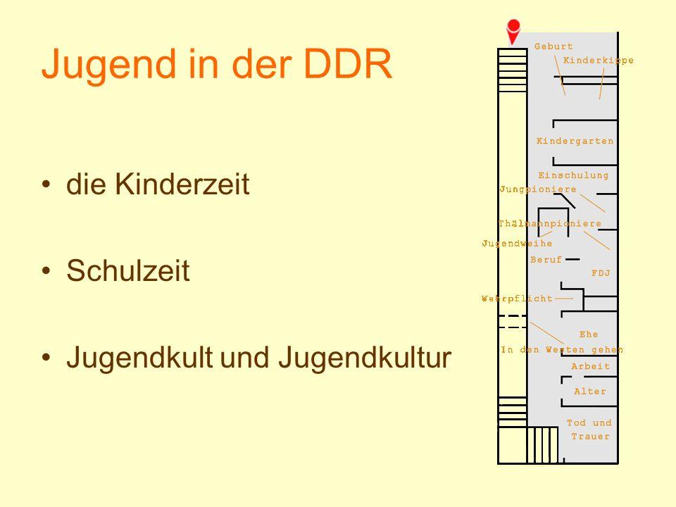Jugend in der DDR die Kinderzeit Schulzeit Jugendkult und Jugendkultur