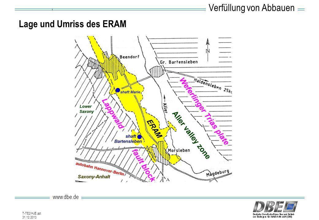 www.dbe.de 31.12.2013 T-TE2/HJE.ppt Lage und Umriss des ERAM Verfüllung von Abbauen