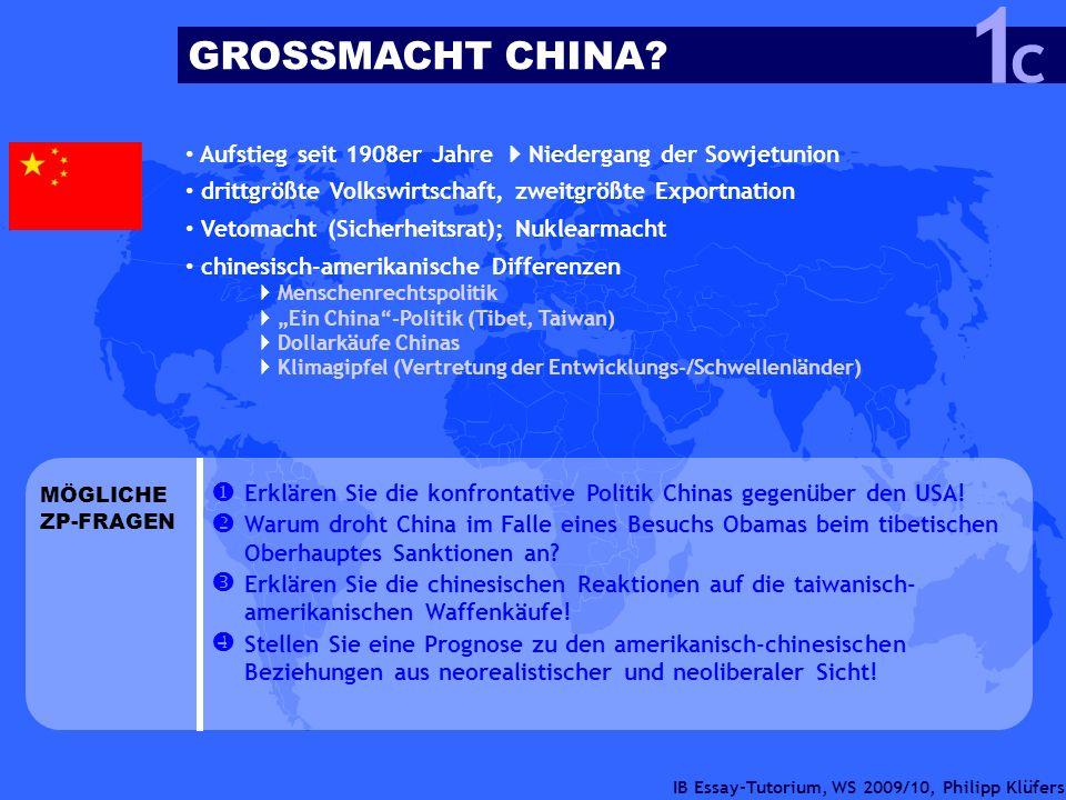IB Essay-Tutorium, WS 2009/10, Philipp Klüfers Aufstieg seit 1908er Jahre Niedergang der Sowjetunion drittgrößte Volkswirtschaft, zweitgrößte Exportna