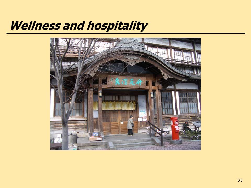33 Wellness and hospitality