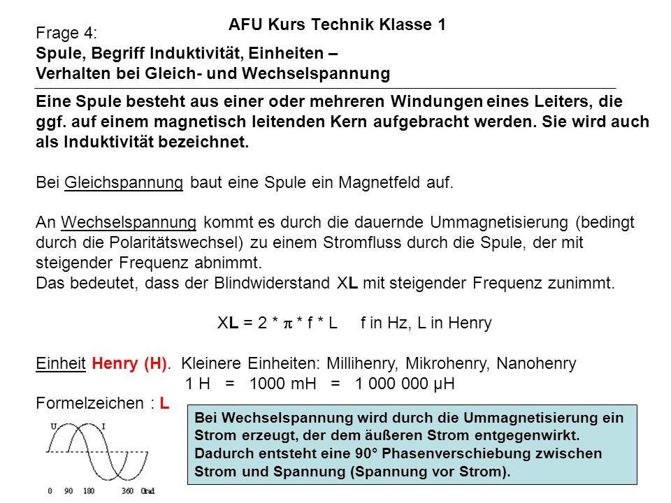 AFU Kurs Technik Klasse 1 Frage 78: Dimensionieren Sie einen Halbwellendipol für f = 3,6 MHz; v = 0.97 (Werte sind bei der Prüfung variabel) l [m] = v * 300 / (2 * f) [MHz] = 0.97 * 300 / (2 * 3,6) = 40,41 m = 291 / 7,2 = 40,41 m Der Verkürzungsfaktor v hängt von der Drahtstärke ab (je dicker desto kürzer) und vom etwaig verwendeten Isoliermantel (kürzer).