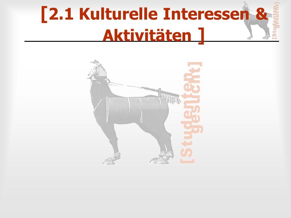 [ 2.1 Kulturelle Interessen & Aktivitäten ]