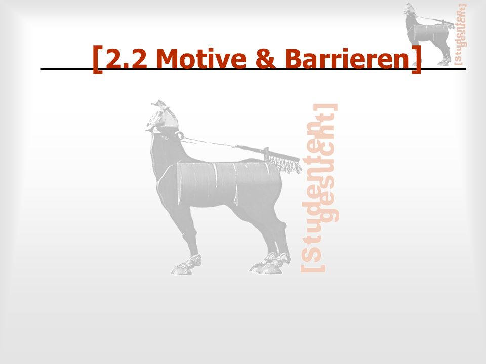 [ 2.2 Motive & Barrieren ]
