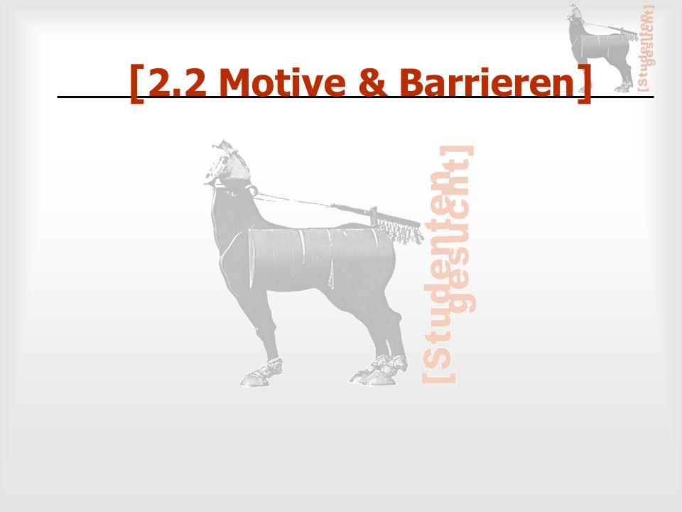 [ 2.2 Motive & Barrieren ]