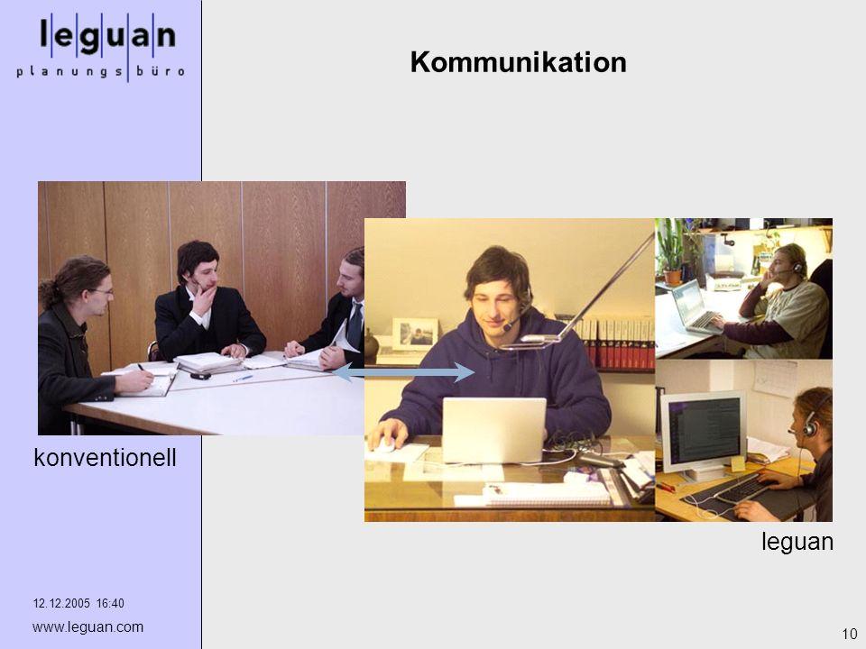 12.12.2005 16:40 www.leguan.com 10 Kommunikation leguan konventionell