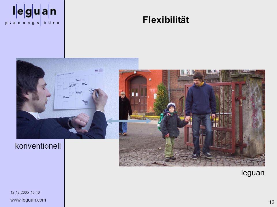 12.12.2005 16:40 www.leguan.com 12 Flexibilität leguan konventionell